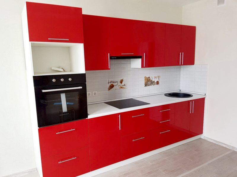 Красная кухня на заказ Шахты